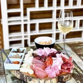 Board Platter + Bottle of Wine