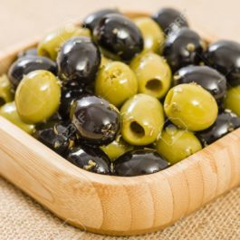 BOTTEGA HOMEMADE PITTED BLACK&GREEN MARINATED OLIVES IN JAR 300GR