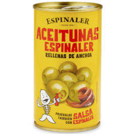 ESPINALER PITTED OLIVES STUFFED WITH ANCHOVIES 350GR