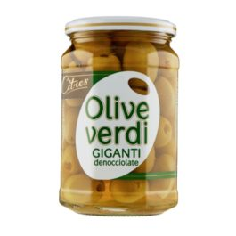 CITRES GIANT PITTED GREEN OLIVES  540GR