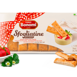 BONOMI SUGAR TOPPED PUFF PASTRY BISCUIT 400GR