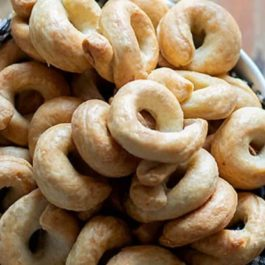 BOTTEGA TARALLI WITH EXTRA VIRGIN OLIVE OIL 250GR