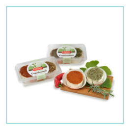 CAROZZI FRESH GOAT CHEESE 2 FLAVORS IN TRAY 2 PCS 160GR