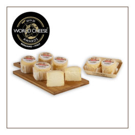 CAROZZI GOAT CROTTINO CHEESE ON WOODEN BOARD 2 PCS 160GR